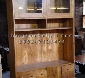 Almari Dapur Lemari Ruang Dapur Minimalis Kayu Jati HMJ-CF 01