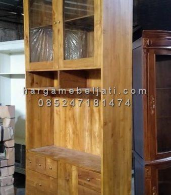Almari Dapur Lemari Ruang Dapur Minimalis Kayu Jati HMJ-CF 01 img2